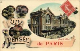 75 PARIS UNE PENSEE LA GARE DU NORD - France