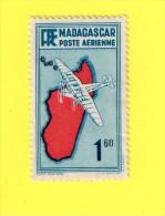 ,,, MADAGASCAR ,, **  1, 60. . ** POSTE AERIENNE  ,, NEUF SANS TRACE DE CHARNIERE ,, TBE - Madagascar (1960-...)