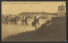 Old Postcard Italian, Roma - Ponte Milvio, Detto Molle, Fuori Porta Del Popolo. - Pontes