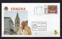 1993 : VOYAGES DU PAPE JEAN PAUL II  Pope John Paul II Papst Johannes Paul II PAPA Jonas Paulius Giovanni Paolo II - FDC