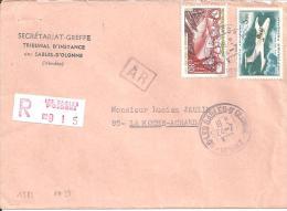 Lettre Recommandée De 1970 - Timbres  PA N°39 + N°1583 - Marcophilie (Lettres)
