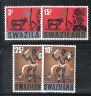BIN68 - SWAZILAND , Serie N. 133/136 *** MNH . Costumi - Swaziland (1968-...)
