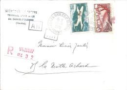 Lettre Recommandée Des SABLES D´OONNEde 1970  Timbres N 1583 Et PA 39 - Marcophilie (Lettres)