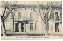 Cpa: 84 SARRIANS (ar. Carpentras) Bureau Des Postes Et Télégraphes (animé) 1919 N° 5 - Sarrians