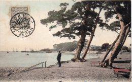 JAPON CACHET KOBE SUR JOLIE CARTE 1908 - Storia Postale