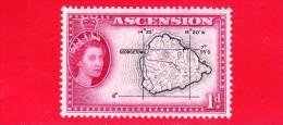 ASCENSIONE - Nuovo - 1956 - Mappa - Map Of Ascension - 1 D - Ascensione