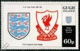 Soccer Fussball Football Gugh Island 60p Liverpool FC FA Cup MNH ** - Clubs Mythiques