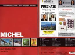 Gulf-States Naher Osten MICHEL Briefmarken Katalog+ CD 2013 New 98€ Country Arabia Part 10 English Catalogues Of Germany - Filatelia E Historia De Correos