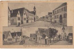 AK OFFENBACH Gruss Aus 3 Views Hauptstrasse Kirche Timbre Stamp - Allemagne