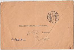 19146 REYKJAVIK 18.II.38 Service Des Postes, Official Letter To London - GF - 1918-1944 Administration Autonome