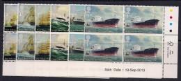 GB ~ 2013 ~ Merchant Navy ~ Ships ~ Set Of SIX In Corner Blocks Of FOUR ~ #ISSUE DATE 19 September 2013## ~ MNH - 1952-.... (Elisabetta II)