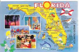 FLORIDA - Carte Géographique - Etats-Unis