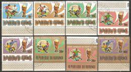 Burundi 1974 Mi# 1058-1065 A Used - World Soccer Championship, Munich - Coppa Del Mondo