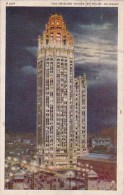 Illinois Chicago The Tribune Tower By Night 1946 - Chicago
