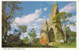 Caltex Oil Company Advertisement, 'Rhodesia's Favorite Oil Company' Finger Rock Near Ruins C1950s/60s Vintage Postcard - Zimbabwe