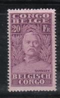R325 - CONGO BELGA 1928 , Il 20 Fr N. 149  *  Mint . Linguella Molto Forte - 1923-44: Nuovi