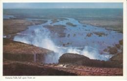 Caltex Oil Company Advertisement, 'Rhodesia's Favorite Oil Company' View Of Victoria Falls C1950s/60s Vintage Postcard - Zimbabwe