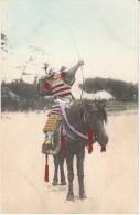 Japanese Soldier With Bow & Arrow On Horseback, Archery, Fashion, C1910s Vintage Postcard - Tir à L'Arc