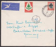 Suid Afrika Moolman Brief Mit Taxe 42 Centimes Und Chrismas-Marke 1952 - Tanzania (1964-...)
