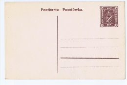 Postal Stationary Postcard Sosnowiec Fisher  CP1 Not Used - ....-1919 Provisional Government