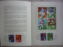 FRANCE FDC  Sur Soie  FOOTBALL 1998  N° 3010/13 - Cartoline Maximum
