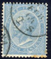 Effigie Di Vittorio Emanuele - 1863 - 15 Cent. Celeste Londra  (Sassone L18) - Gebraucht