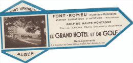Superbagnères Luchon Haute Garonne Hotel Font Romeu Golf Marque Pages Segnalibro Signet Bladwijzer - Marque-Pages