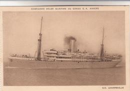 Compagnie Belge Maritime Du Congo S.A. Anvers, S.S Anversville (pk12505) - Dampfer