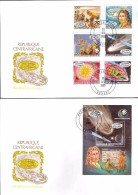 0388 Space Raumfahrt Comete Halley 1985 Guinea 6v 6+S/s Set 2FDC CTO - Africa