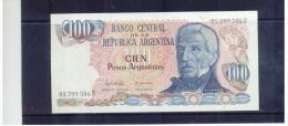ARGENTINIEN , Argentina , ( 1976 - 1978 ) , ( 100 ) , CIEN Pesos Argentinos  , Pick # 302   ,  UNC - Argentinien