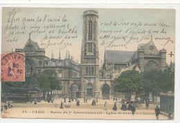75 //  PARIS  I ER   Mairie Du Premier Arrondissement, Eglise De St Germain L'Auxerrois  N° 43  ANIMEE - Arrondissement: 01