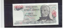 ARGENTINIEN , Argentina , ( 1983 - 1984 )  ,  ( 10 )  , DIEZ  Pesos Argentinos  Pick # 313 - Argentinien