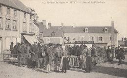 14 LITTRY Vers BAYEUX  Animation Au MARCHE Des PETITS PORCS  Place CAFE De PARIS TABAC 1911 - Francia
