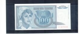 JUGOSLAWIEN , YUGOSLAVIA , 1992 ,  100 Dinara ,  Pick # 112  ,  UNC - Yugoslavia