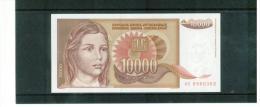 JUGOSLAWIEN , YUGOSLAVIA ,  10000 Dinara ,  Pick #116 - Yugoslavia