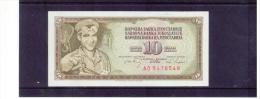 JUGOSLAWIEN , YUGOSLAVIA ,  10 Dinara ,  Pick #82c - Yugoslavia
