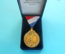 SPOMENICA DOMOVINSKOG RATA ( Homeland War Testimonial ) - CROATIA MEDAL  IN ORIGINAL BOX  ** PERFECT ** Croatie Kroatien - Sonstige Länder