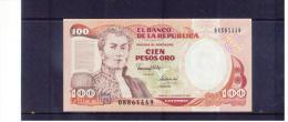 KOLUMBIEN , COLOMBIA , 10. De ENERO De 1991   , 100  Cien Pesos Oro ,  Pick # 425 C  , UNC - Kolumbien