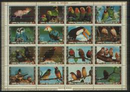 UMM Al QIWAIT  Birds Sheetlet Of 16 Stamps   MNH - Pájaros