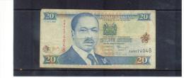 KENIA , KENYA , 1 .JULI 1998 , 20  SCHILINGI  ISHIRINI  , Circ. - Kenia