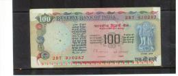 INDIEN , INDIA , 100  One Hundred Rupees   Pick #86 - Indien