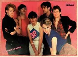 Kleines Musik-Poster  -  Band Human League  -  Rückseite : Sternzeichen Zwillinge  -  Von Pop Rocky Ca. 1982 - Plakate & Poster