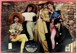 Kleines Musik Poster  -  Gruppe Kit Creole & The Coconutz  -  Von Bravo Ca. 1982 - Plakate & Poster