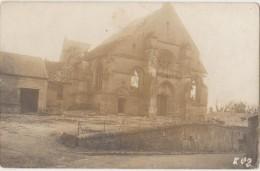 CPA PHOTO 60 AUTRECHES Guerre 1914 1918 Les Ruines De L'Eglise Carte Allemande Rare - Zonder Classificatie