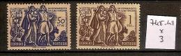 Portugal 748-49 *  Côte 3 € - 1910 - ... Repubblica