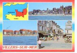 Villers Sur Mer Multivues Géographique Angleterre Plage Centre Ville Place Jeanne D´arc 2000 - N°1/54 As De Coeur - Villers Sur Mer