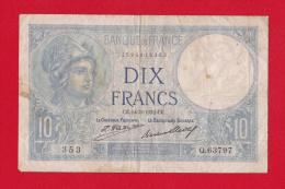 """BILLET DE 10  FRANCS  """"MINERVE""""  DU  24-3-1932  Q.63797 - 10 F 1916-1942 ''Minerve''"""