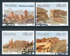 NAMIBIA 1997 - Rovine Antiche / Ancient Ruins - 4 Val. Usati / Used Come Da Scansione - Namibia (1990- ...)