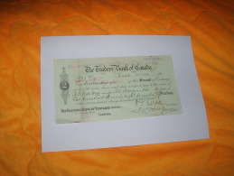 ORDRE DE PAIEMENT / MANDAT  / BANQUE / DATE 1905 / N°8630 / CANADA / THE TRADERS BANK OF CANADA / INGERSOLL CACHET. - Canada