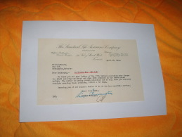 DOCUMENT OU COURRIER /  THE STANDARD LIFE ASSURANCE COMPANY / DATE 1936 / CANADA FAIT A TORONTO. - Canada